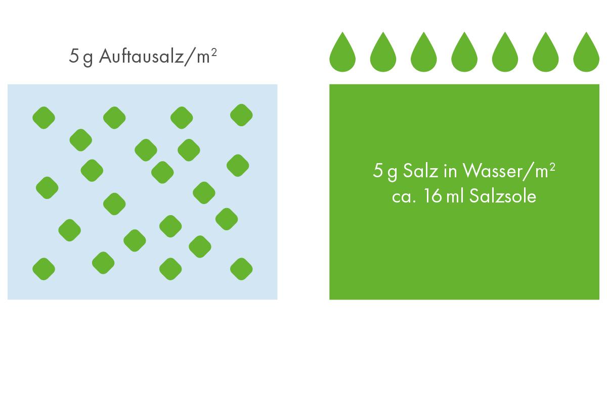 Trockensalz-Salzsole - der Unterschied